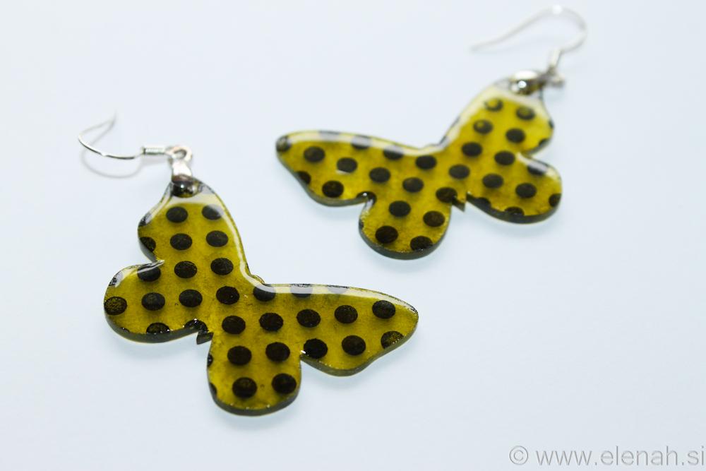 Day 346 plastic butterfly earrings 4