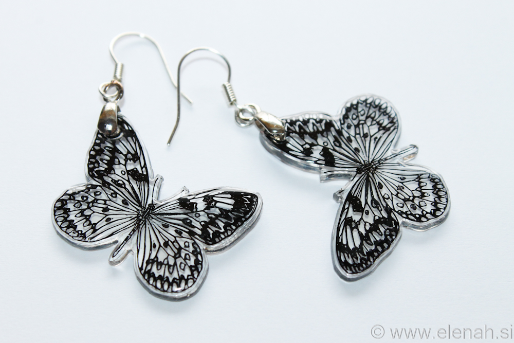 Day 351 butterfly plastic earrings 3