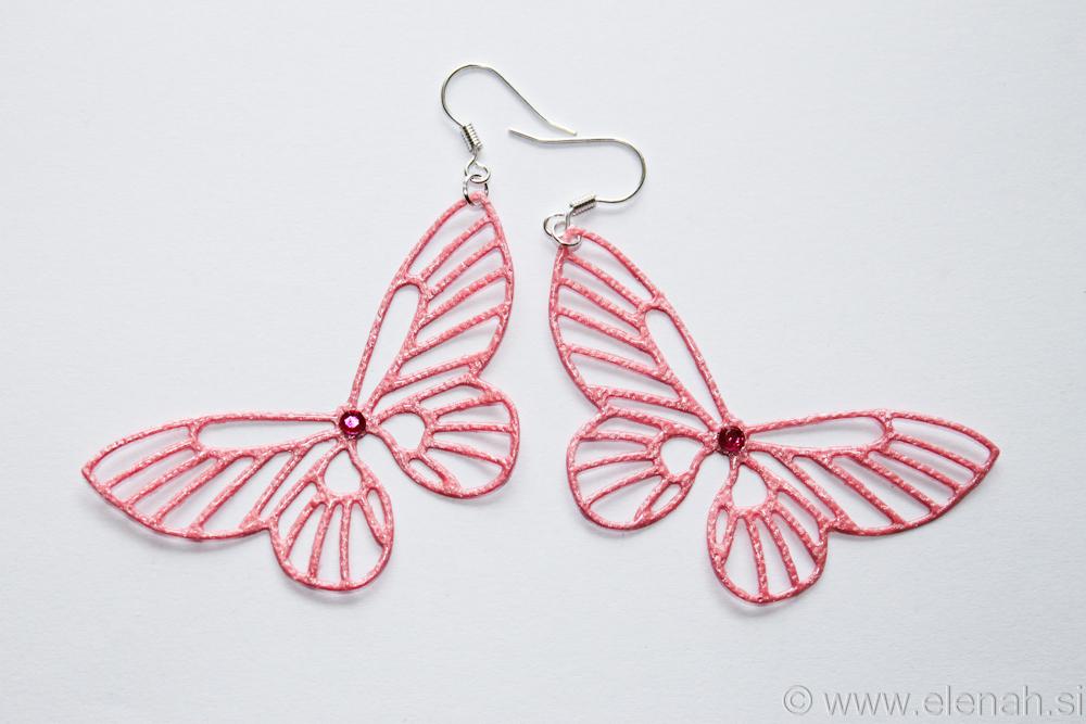 Day 361 butterfly rose earrings 1
