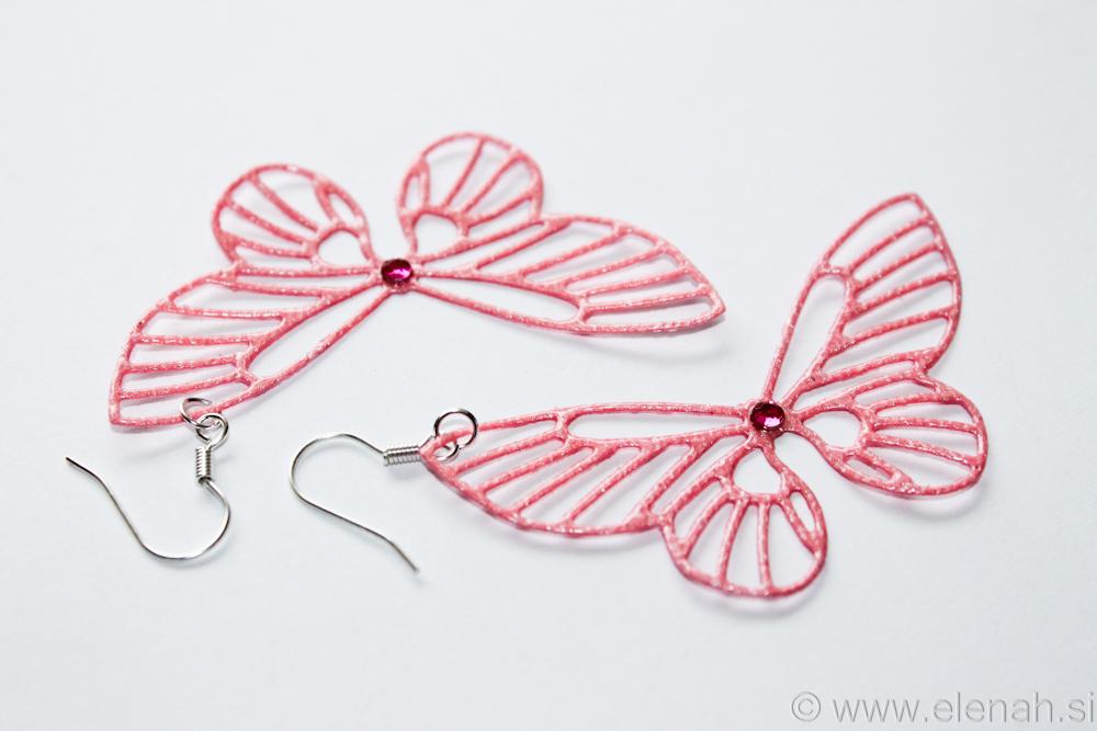Day 361 butterfly rose earrings 2