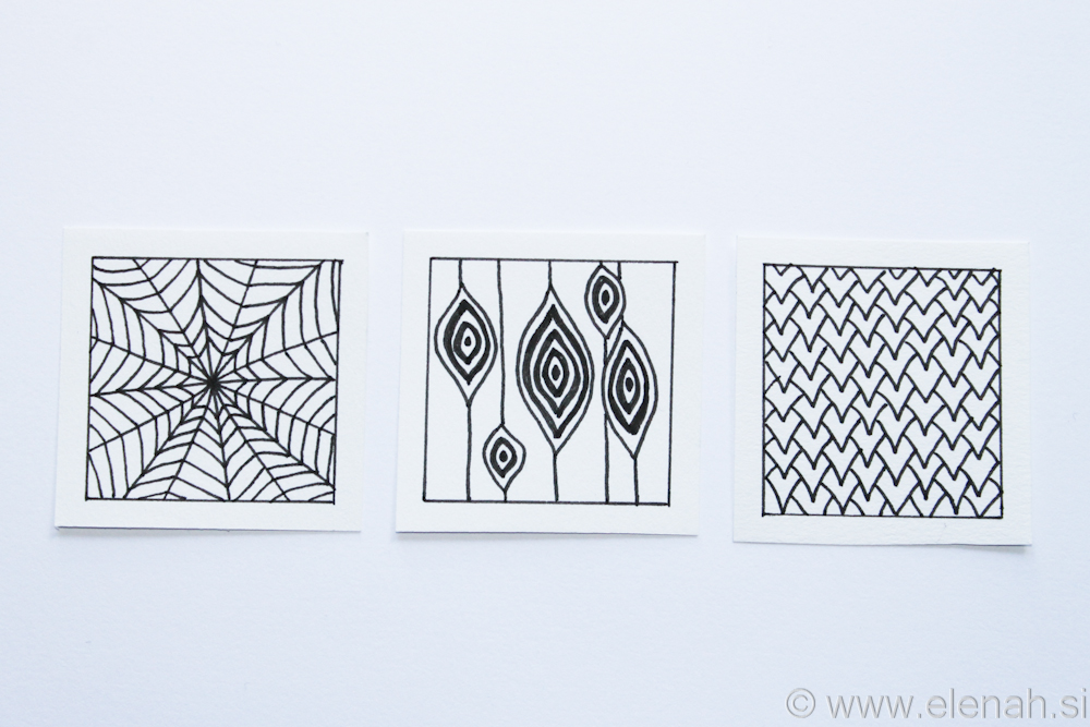 Day 5 Zentangle patterns 1