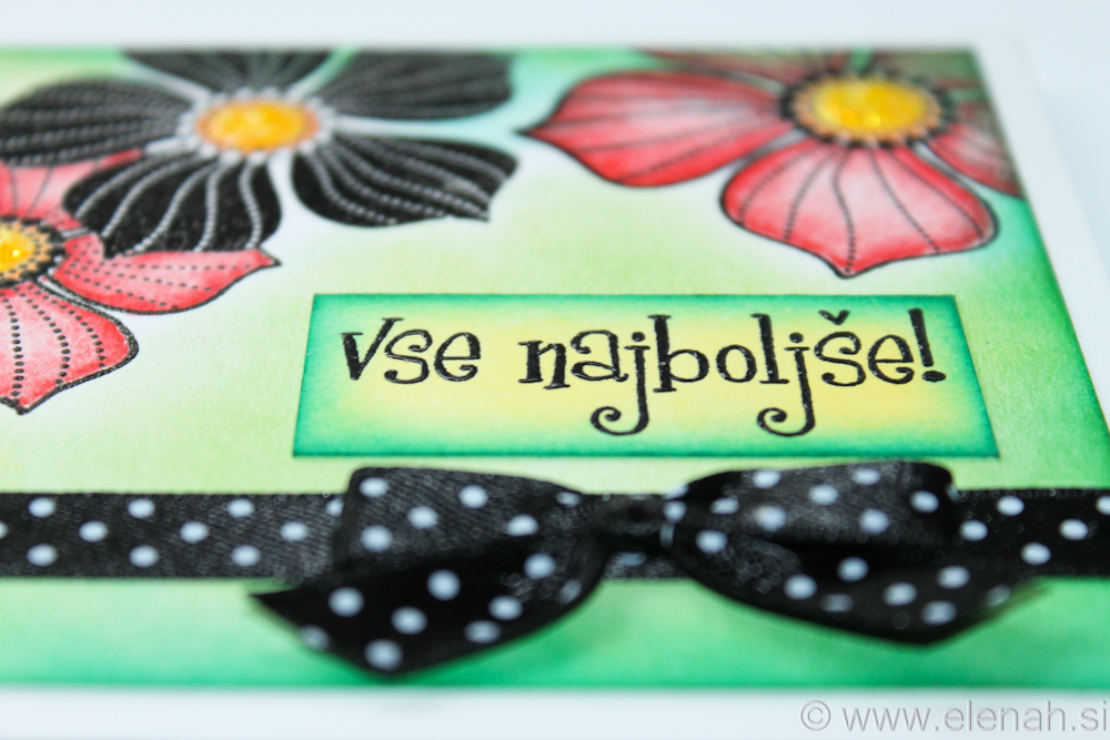 Day 72 flower ladybug polka dot ribbon 3