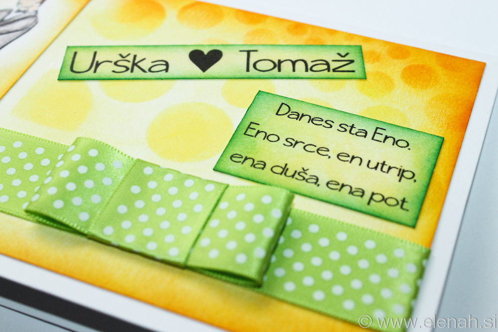 Day 74 wedding card yellow green 4