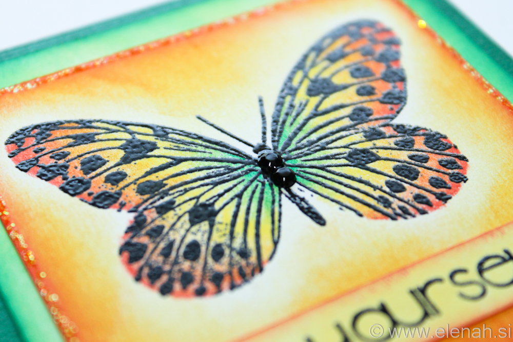 Day 85 butterfly orange green notepad 5