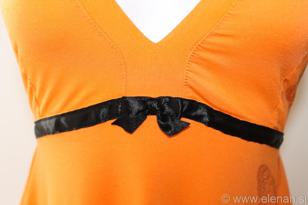 Day 87 orange black butterfly dress 2