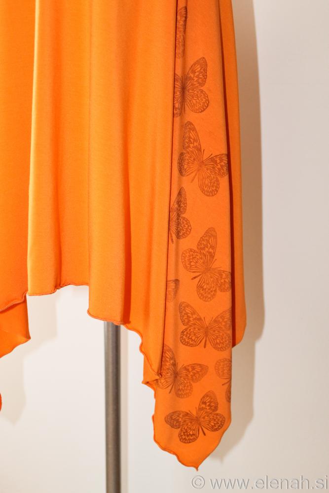 Day 87 orange black butterfly dress 4