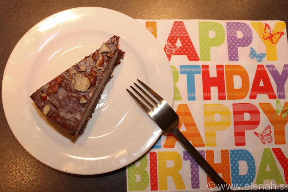 Day 9 raw chocolate hazelnut cake 1