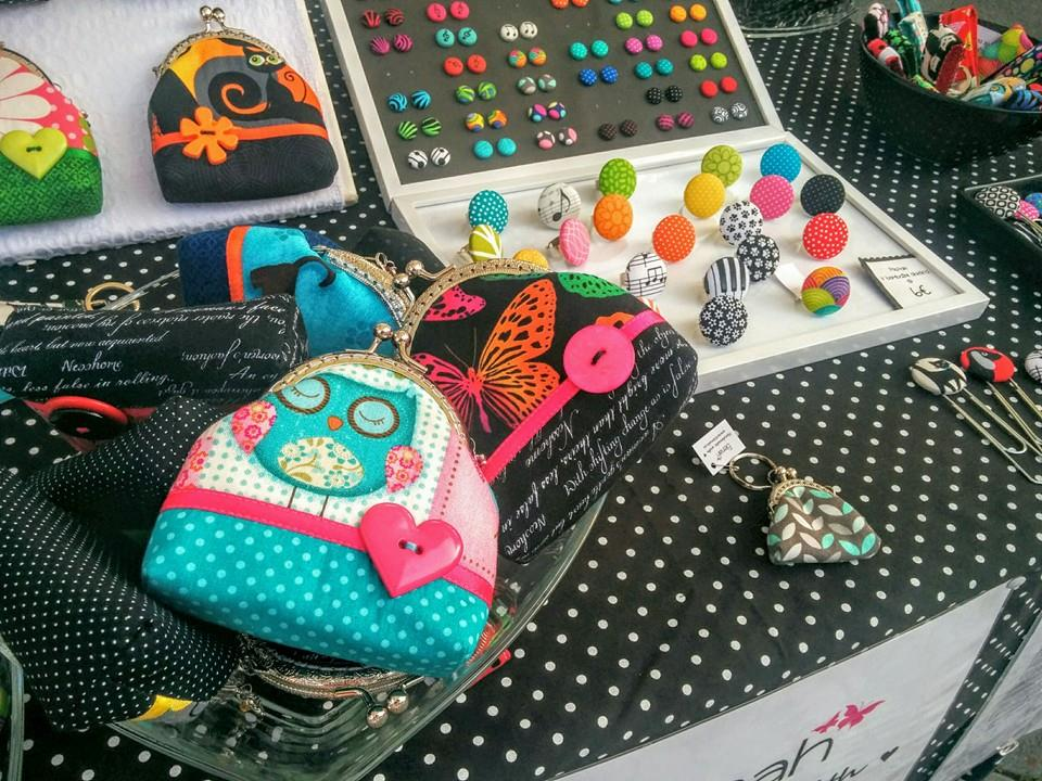 Elenah ročno delo drobižnica sova pike turkizna purse frame handmade owl dots turquoise