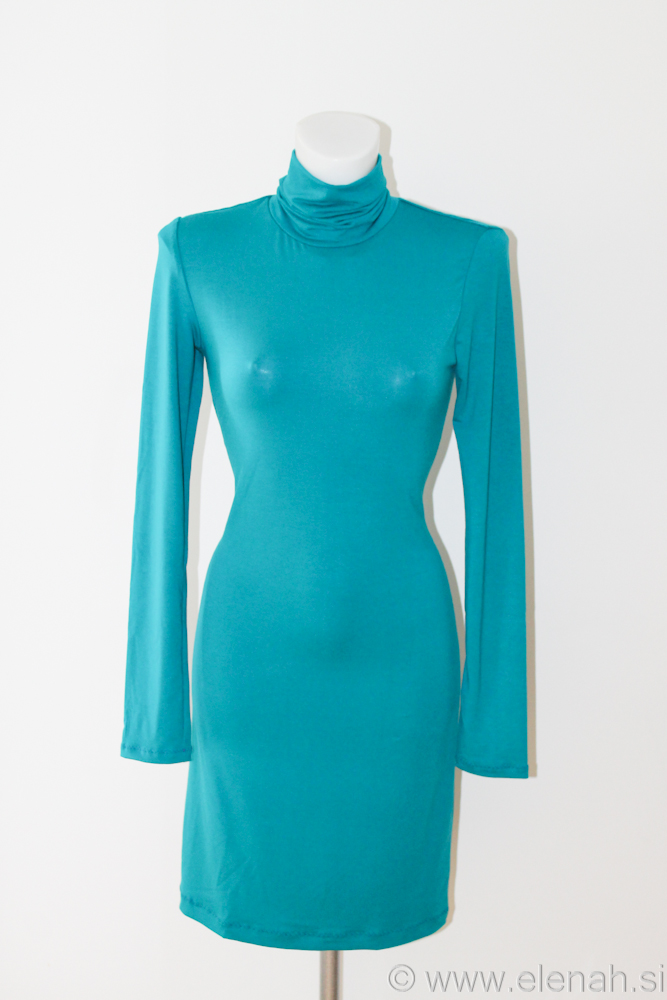 Obleka Prstan blago petrol Dress Butterfly ring petrol fabric 4